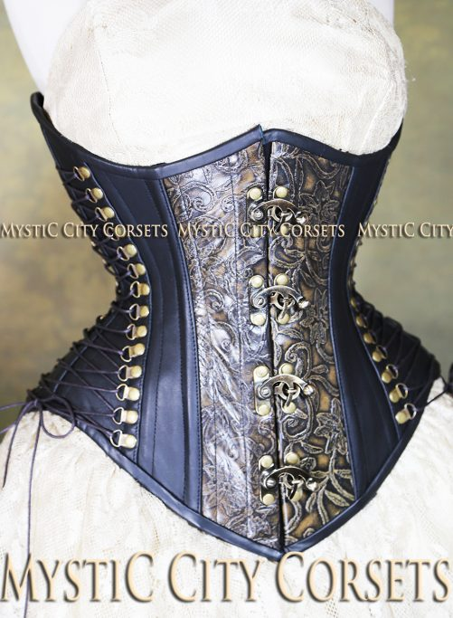 MCC47 Leather Underbust Corset-800