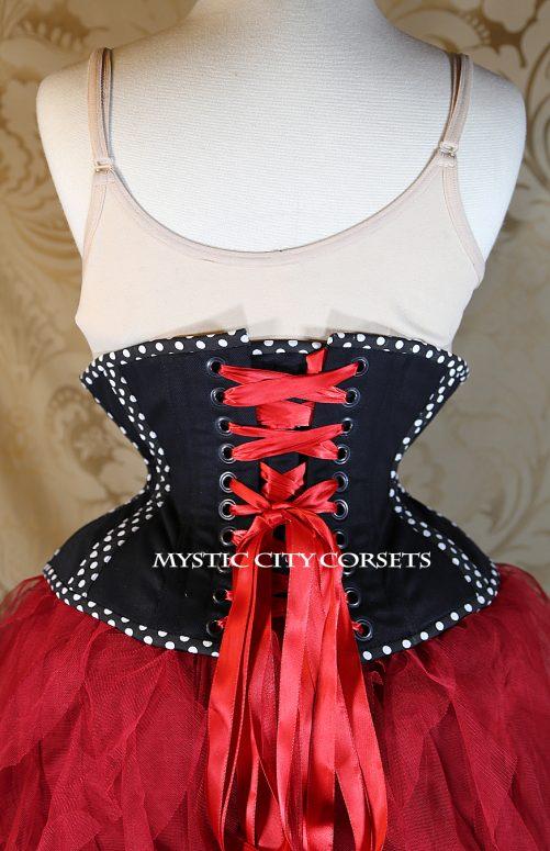 MCC32 Polka Dot Cotton Underbust corset-826