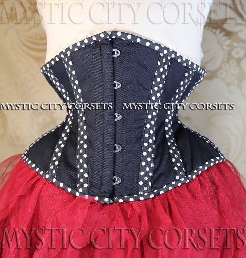 MCC32 Polka Dot Cotton Underbust corset-822