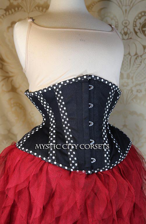 MCC32 Polka Dot Cotton Underbust corset-825